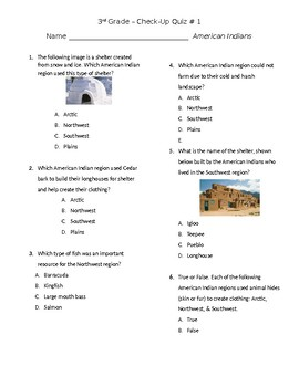 American Indians Check Up Quiz #1 GSE