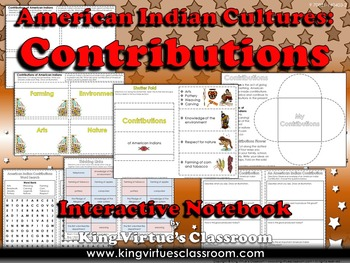 American Indians Interactive Notebook: Contributions of Powhatan Lakota Pueblo