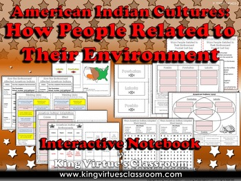 American Indians Interactive Notebook: How People Related Their Environment #2