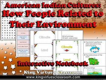 American Indians Interactive Notebook: How People Related Their Environment #1