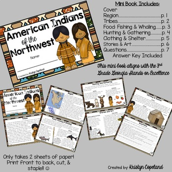 American Indians: NORTHWEST Mini Books (Native Americans)
