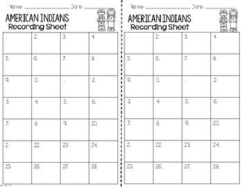 American Indians Native American Regions I Have, Who Has? Whole Group Vocabulary