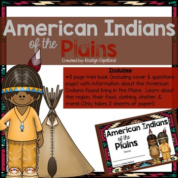 American Indians: PLAINS Mini Books (Native Americans)