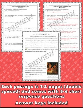 American Indians Passages & Questions VS.2d-g {Digital & PDF Included}