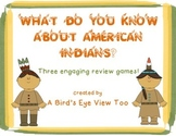 Native American Indians Review Games