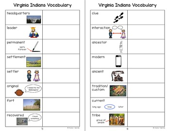 American Indians in Virginia Vocabulary Charts (VS.2d-g)
