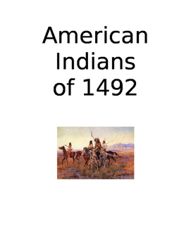 American Indians of 1492