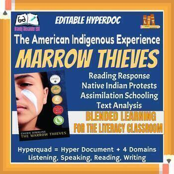 American Indigenous Experience - Marrow Thieves Reading Response | Hyperdoc