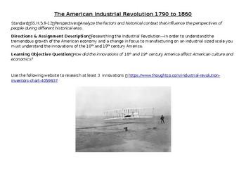 American Industrial Revolution Activity