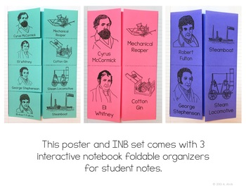 American Industrial Revolution Poster and Interactive Notebook INB Set
