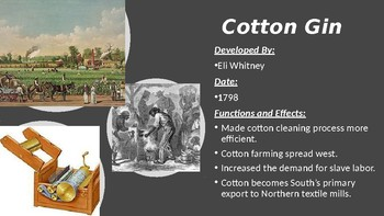 American Industrial Revolution: PowerPoint Guided Notes for Booklet