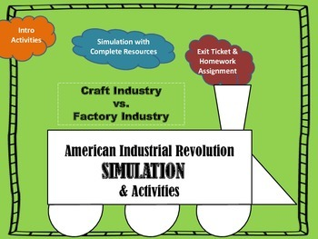 American Industrial Revolution Simulation & Activities