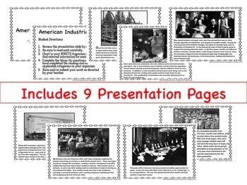 American Industrialism SPRITE Google Drive Interactive Lesson