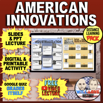American Innovations: Inventions, Industrialization, and Railroads Bundle
