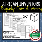 American Inventors Activity, Biography Cube and Writing