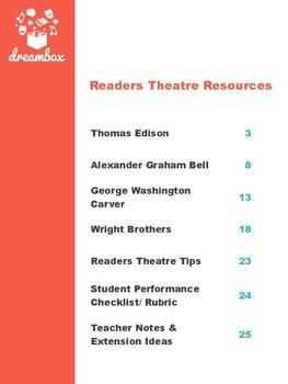American Inventors Readers Theatre Bundle (Edison, Bell, Carver, Wright)