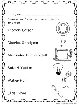 American Inventors of the 1800s and What They Invented Booklet w/ ELA Resources