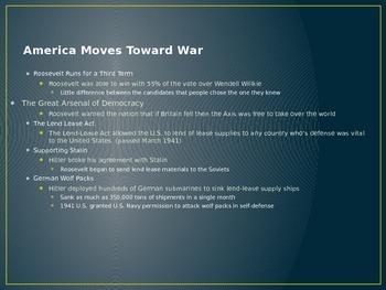 American Involvement in World War II