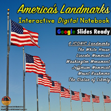 American LANDMARKS Interactive Digital Notebook for Google Drive®