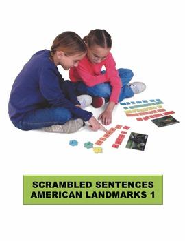 American Landmarks 1 Scrambled Sentences Manipulatives