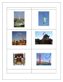 American Landmarks Activity