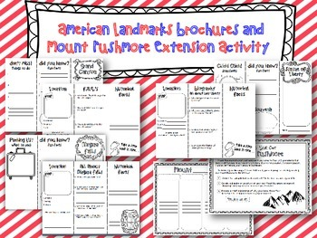 American Landmarks Brochure Templates & Extension Activities