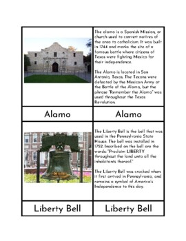 American Landmarks - Three/Four Part Cards