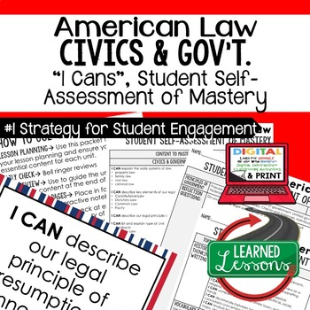 American Law I Cans, Self-Assessment of Mastery, CIVICS