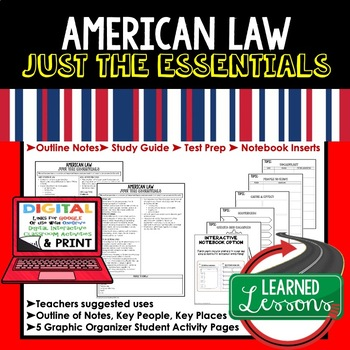 American Law Outline Notes, American Law Bullet Notes, Unit Review