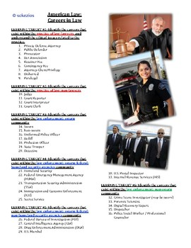 American Law Unit 5: Careers OVERVIEW