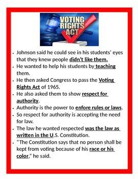 Lyndon B. Johnson Study Guide- 3rd Grade Social Studies