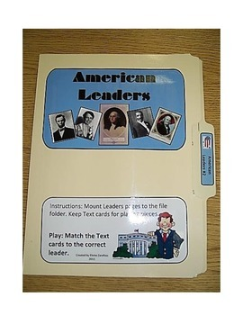 American Leaders #2: File Folder Activity