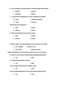 American Leaders 3 Bundle (Georgia) Study Guide/Quiz/Answer Key