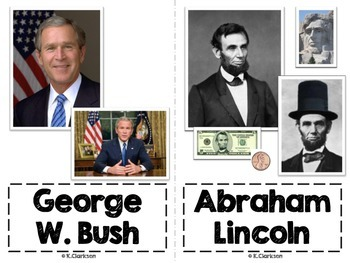 American Leaders, Presidents and Influential People Vocabulary Picture Cards