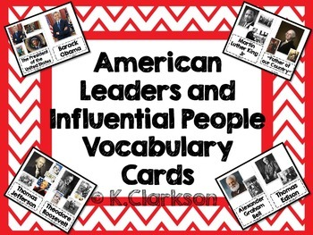 American Leaders, Presidents and Influential People Vocabu