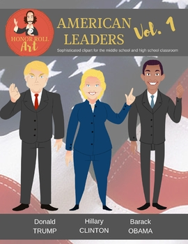 American Leaders Vol. 1 clipart (Trump, Clinton, Obama)