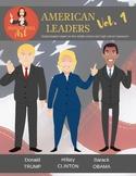 American Leaders Vol. 1 clipart (Trump, Clinton, Obama)
