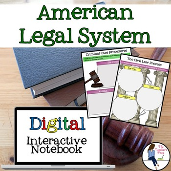 American Legal System Interactive Notebook for Google Drive