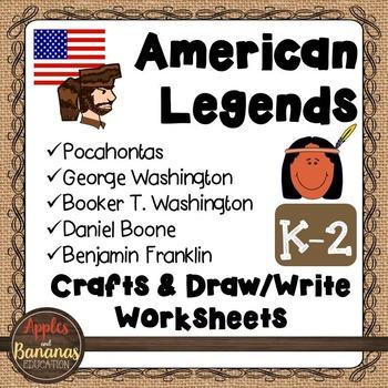 American Legends - Social Studies Craft and Worksheet Bundle
