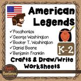 American Legends - Social Studies Crafts and Worksheets