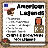 American Legends - Social Studies Craft and Worksheet Bundle