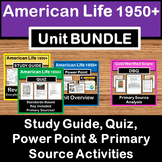 Post WWII 1950-1970 America Unit BUNDLE