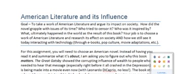 American Literary Influence Research Paper Unit--CC Aligned