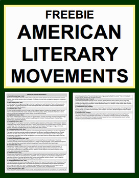 American Literary Movements