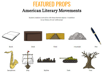 American Literary Movements Activities: Describe, Identify, Illustrate