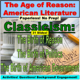 American Literature : Age of Reason Lesson and Activity