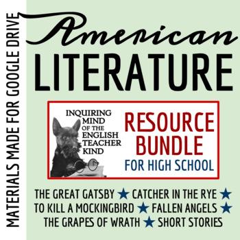 American Literature Mega Bundle for High School: Close Reads, Assessments & More