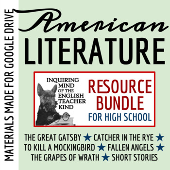 American Literature Assessment Bundle for High School