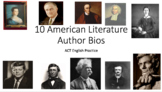 American Literature Author Bio Passages for ACT English Pr
