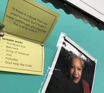 American Literature Authors Interactive Bulletin Board Display